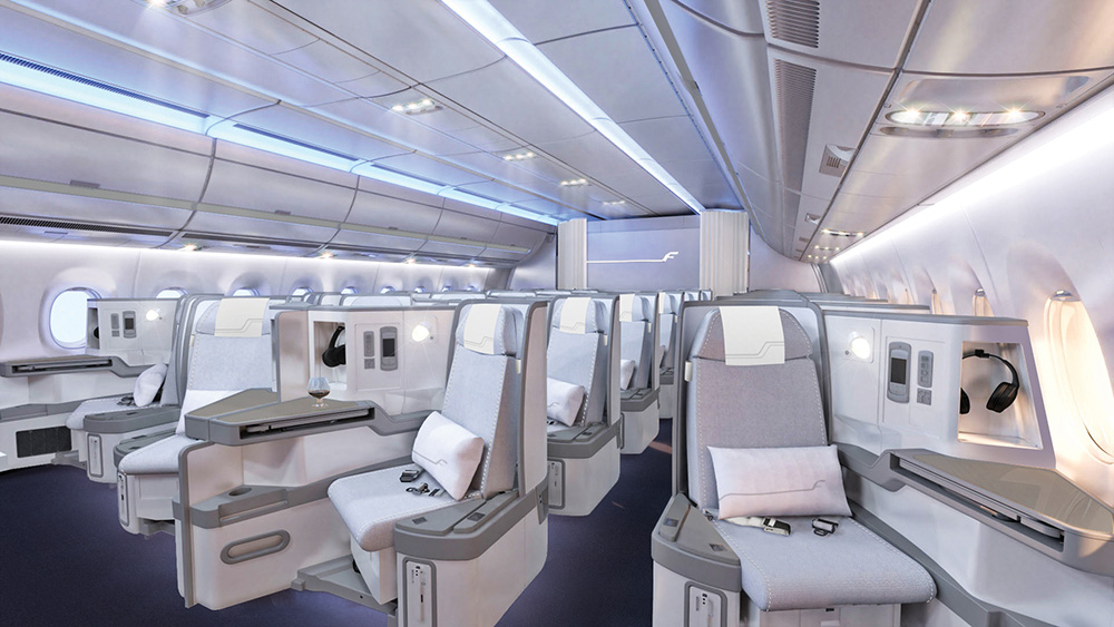 Finnair A350 business class cabin