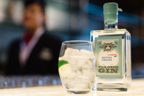 British Airways Limited Edition Gin bottle