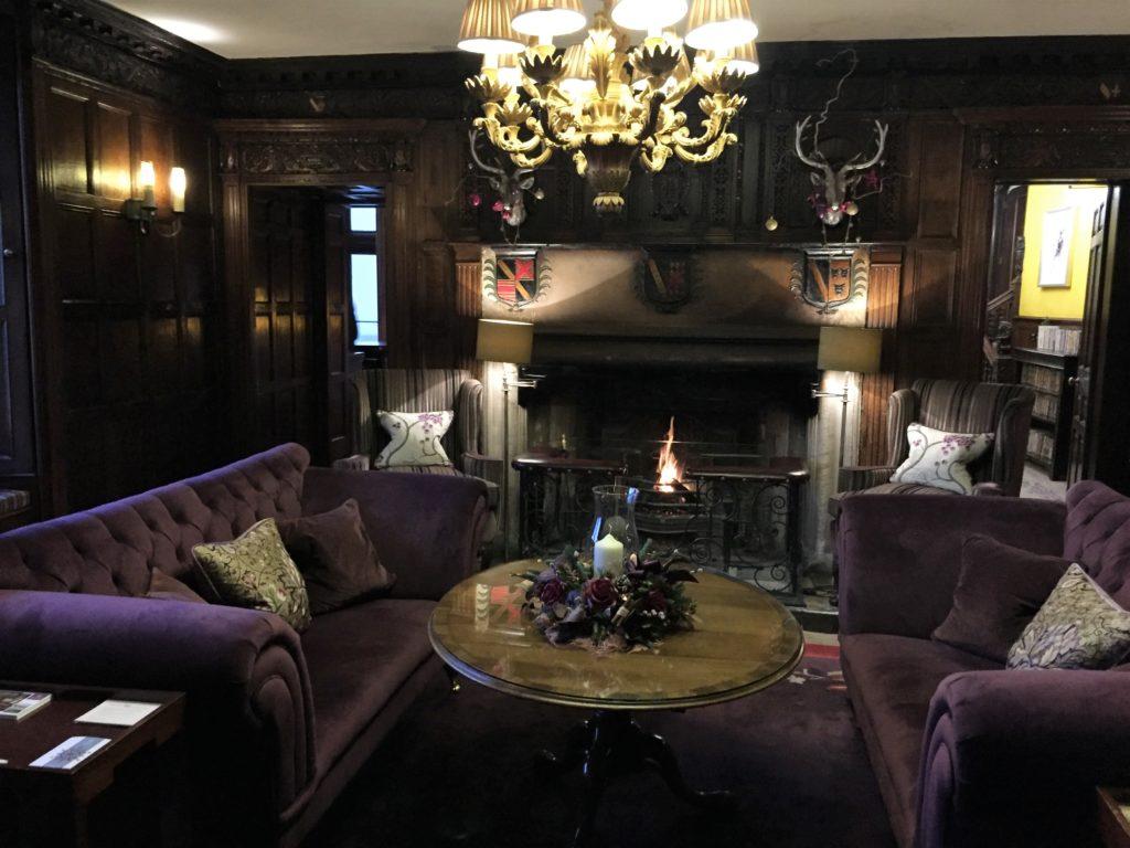 Manor Hotel reception seating area