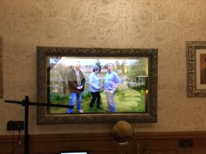 TV in a mirror!
