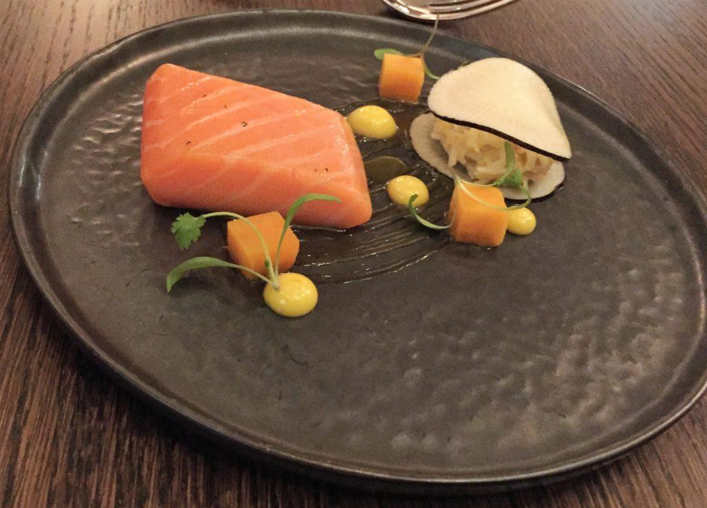 Confit salmon starter