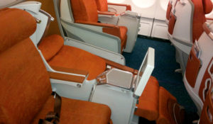 Air Mauritius business class seat