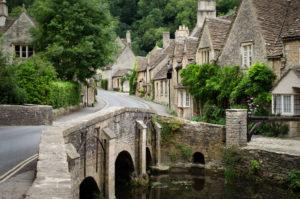 The quaint fairy tale village of Castle Combe