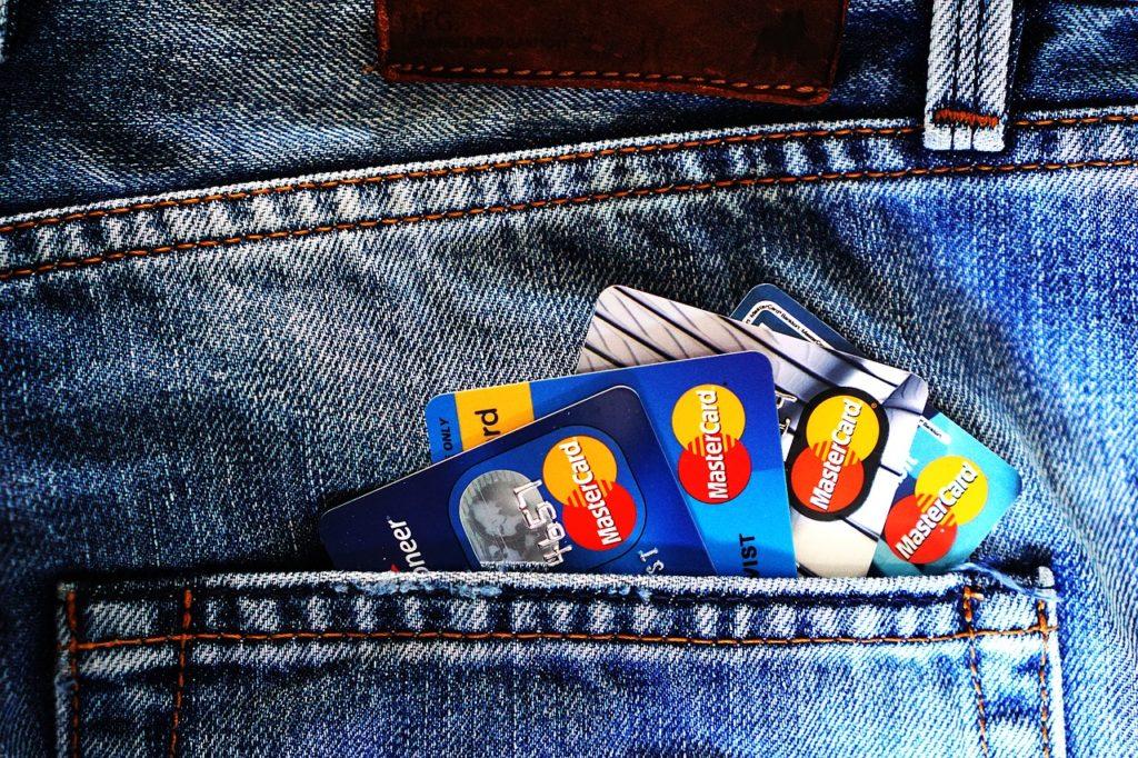 pocket of credit cards