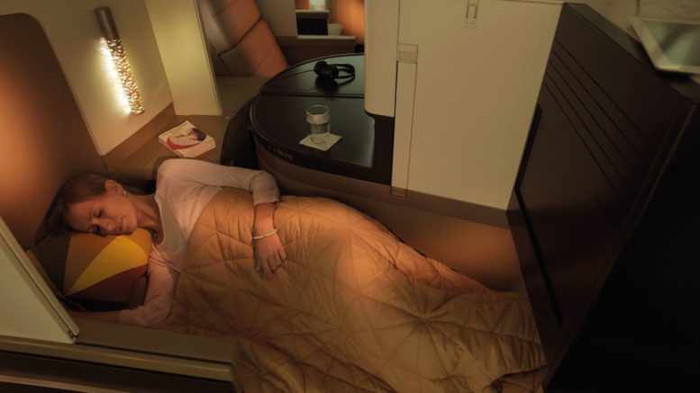 Etihad business class studio A380 review