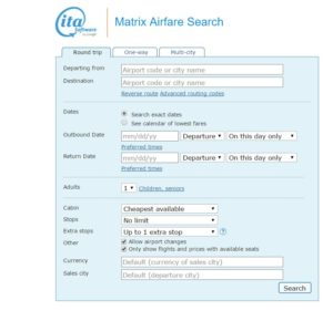 find cheap flights google flights ITA matrix