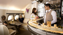 Emirates a380 on board lounge