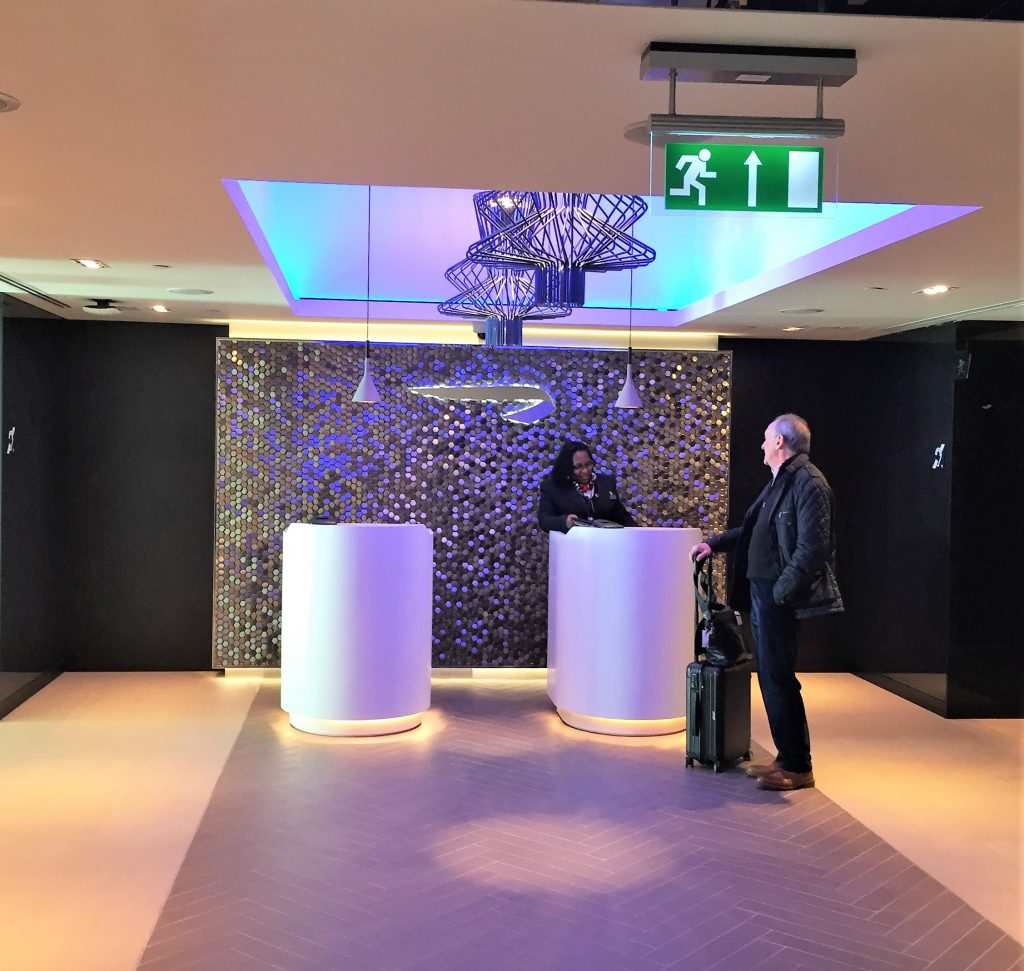 British Airways Gatwick Club lounge entrance