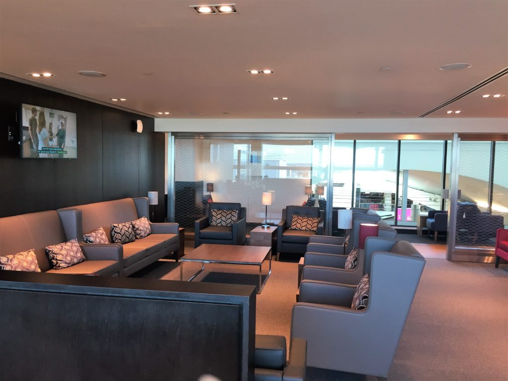 BA Gatwick South new Club lounge review seating area