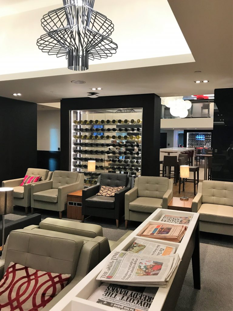 BA Gatwick South new Club lounge review searting area