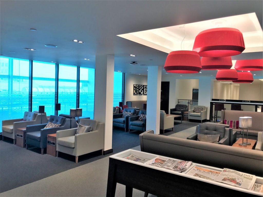 BA Gatwick lounge review upstairs