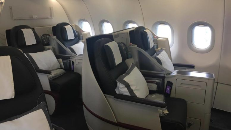 Qatar A319 business class review