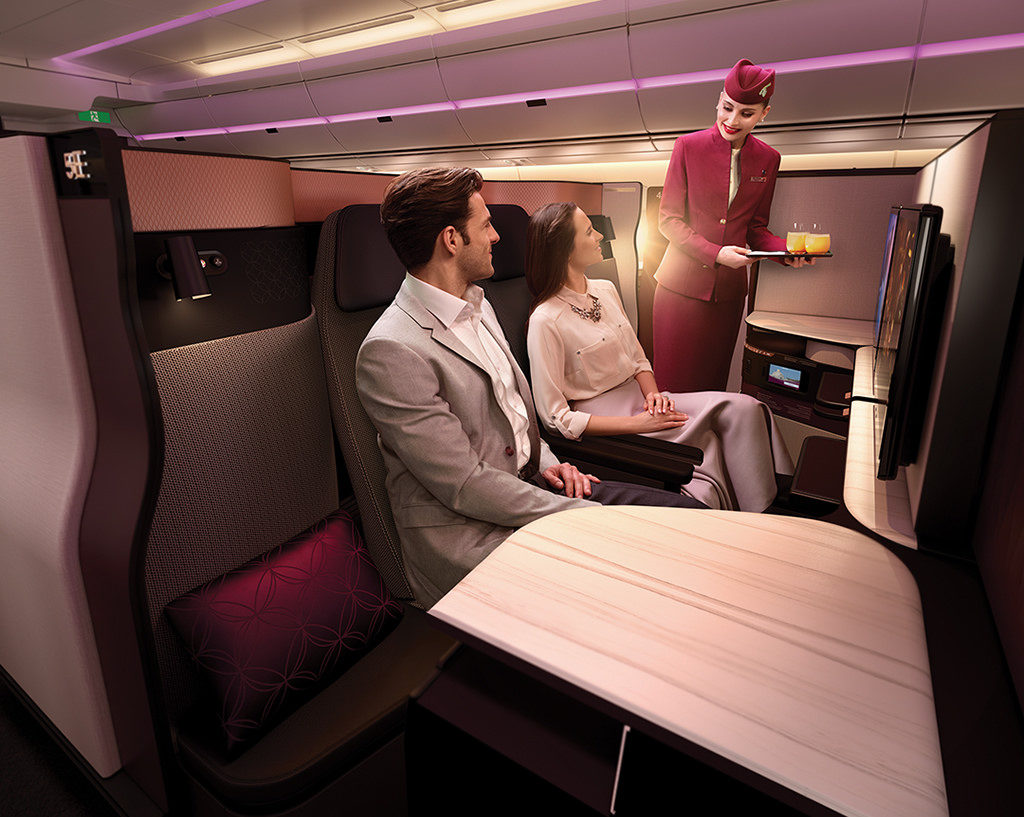 Qatar airways business class suite