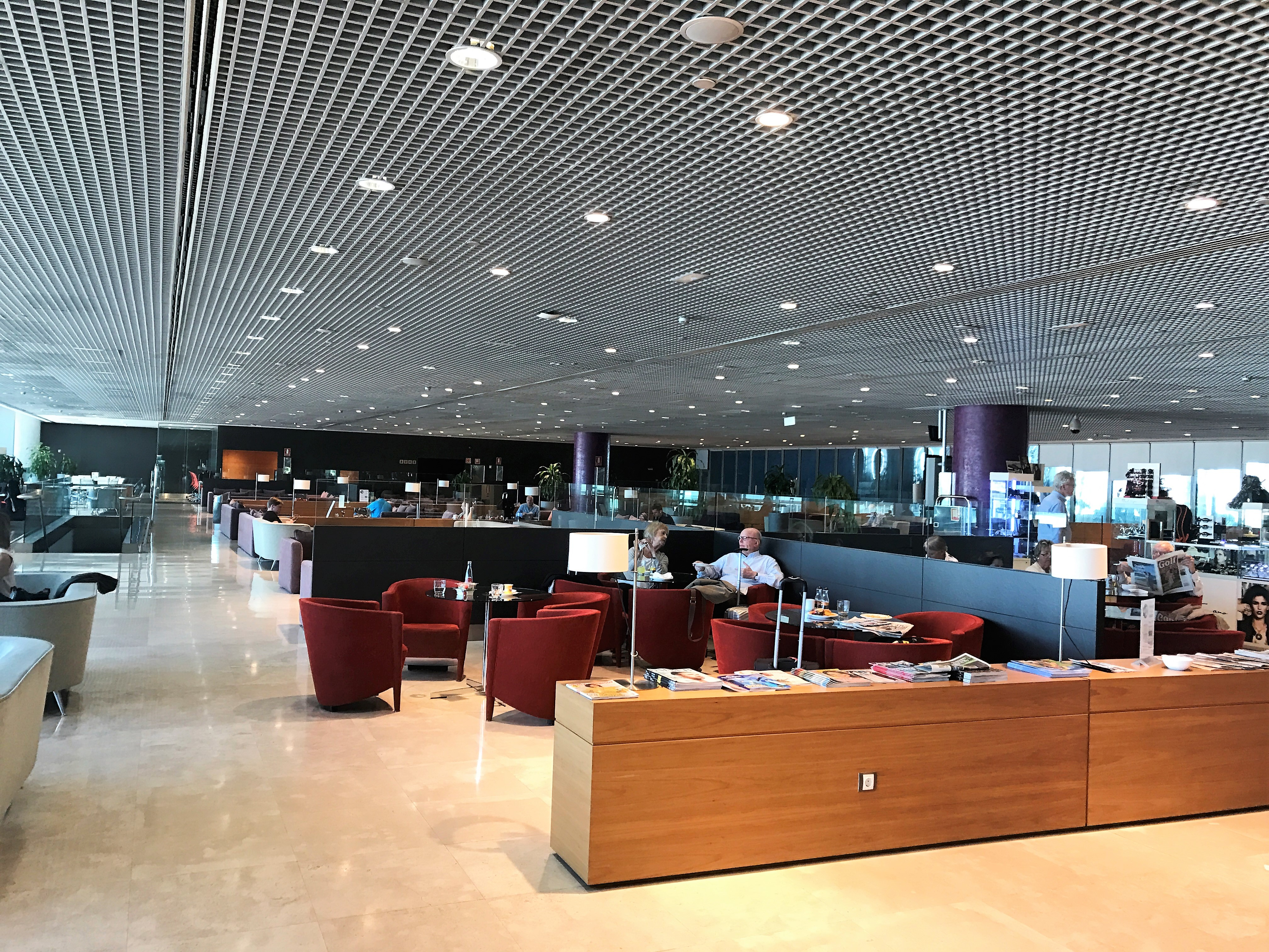 British Airways lounge Sala VIP at Malaga Airport