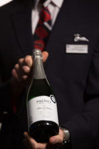 British Airways First wine