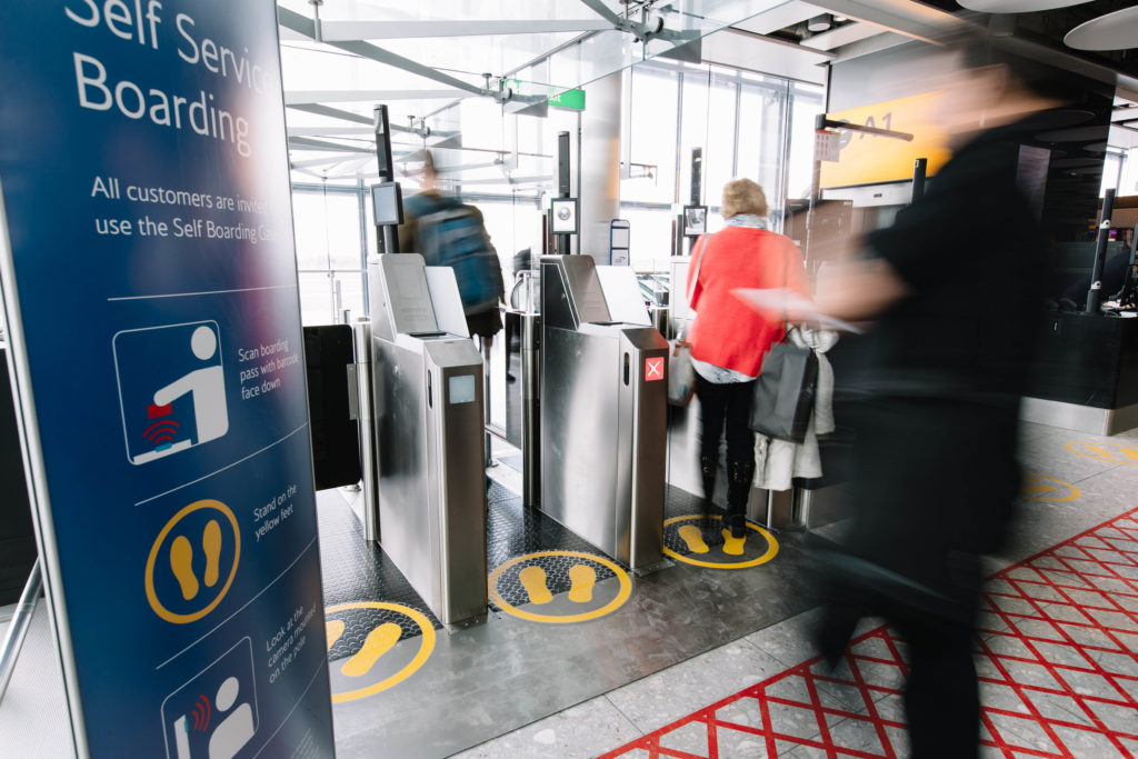 BA automated boarding gates