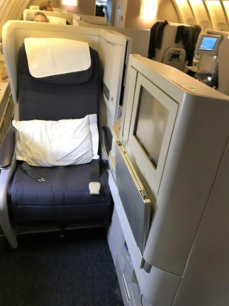 BA B747 club world review