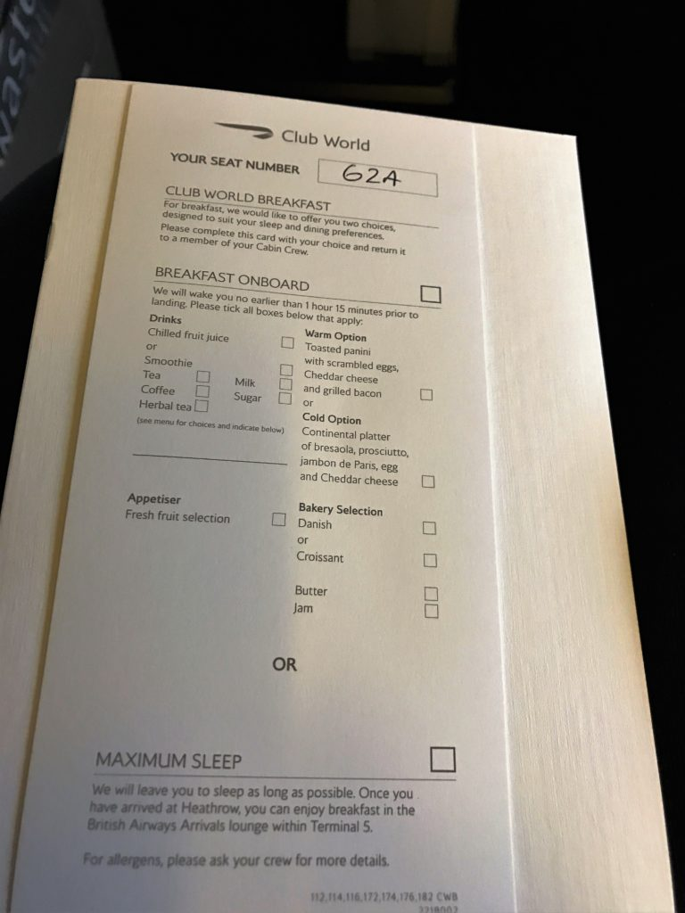 BA Club World B747 review