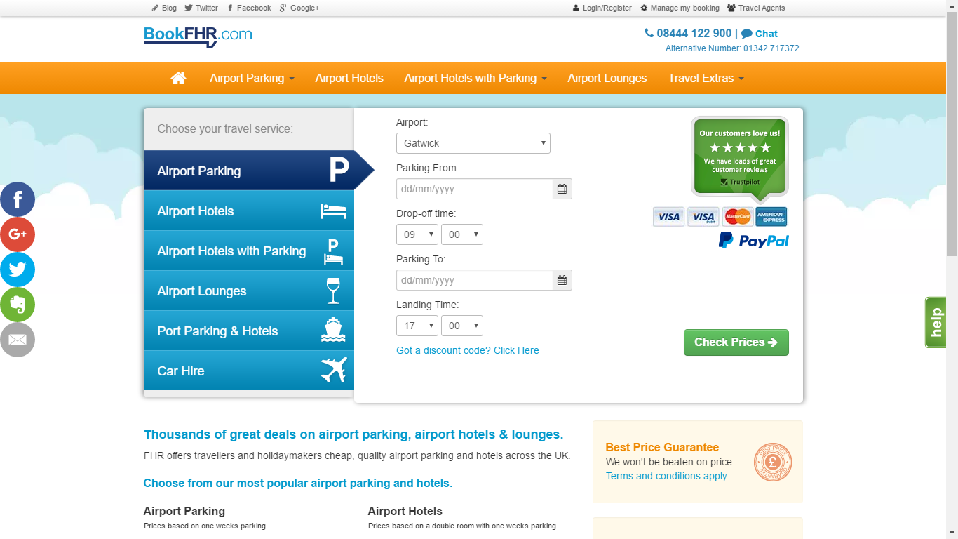 Discounts On Parking And Hotels At Heathrow Gatwick And Many Uk