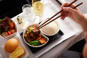 Cathay Pacific business class meal