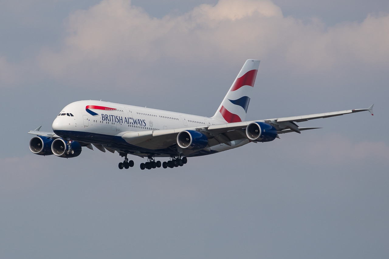 One of the United Kingdom's largest airlines, British Airways (BA) is also the country's flag carrier. It operates from hubs at London's Heathrow Airport (LHR) and Gatwick Airport (LGW). The carrier, which was established in , is a founding member of the Oneworld alliance.