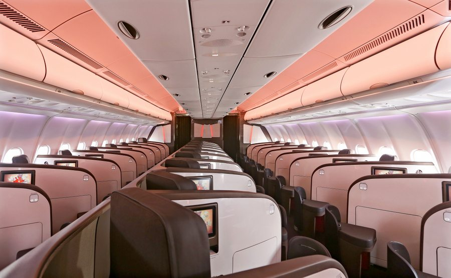Virgin A330 new seats roll out routes