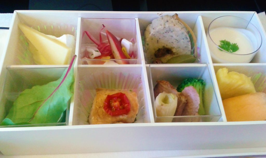 JAL food business class