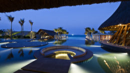 Naman Retreat Vietnam review seating sunken in pool Hay Hay restaurant
