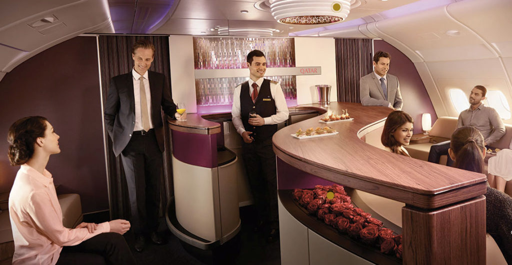 Qatar sale A380 bar