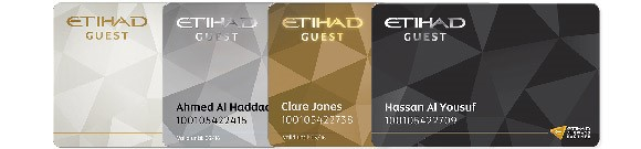 Etihad guest all tier level cards