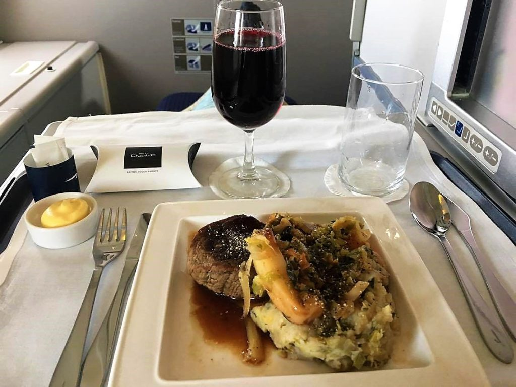 BA B747 Club World Upper deck review British Airways