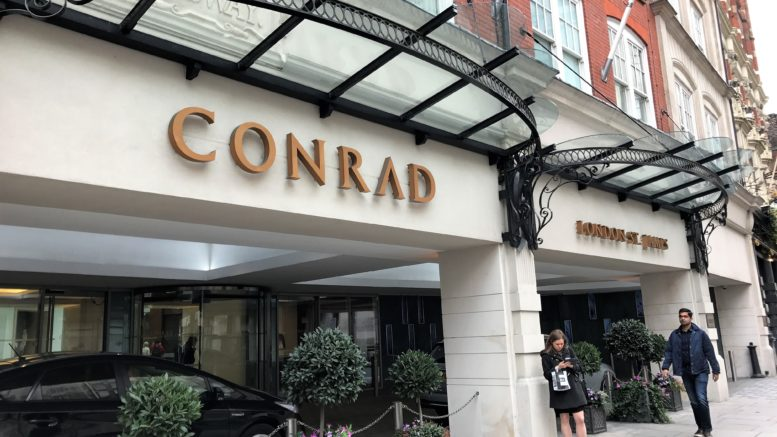 Conrad hotel London St James review