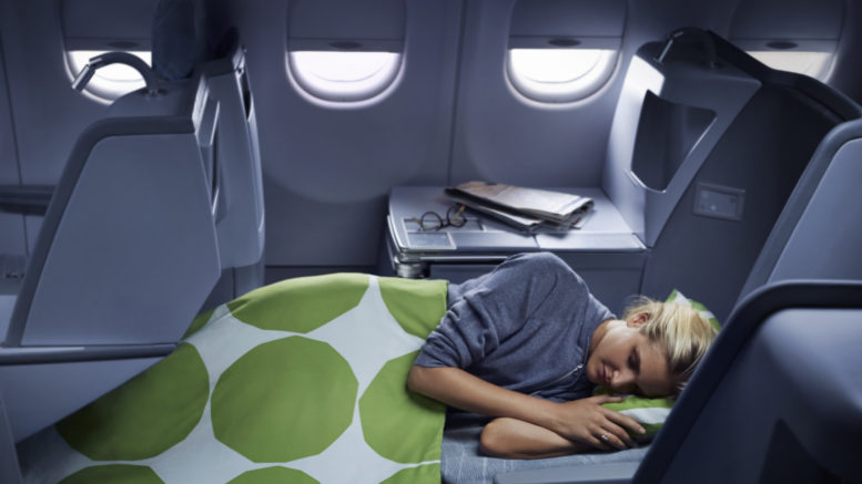 Finnair A330 business class seat