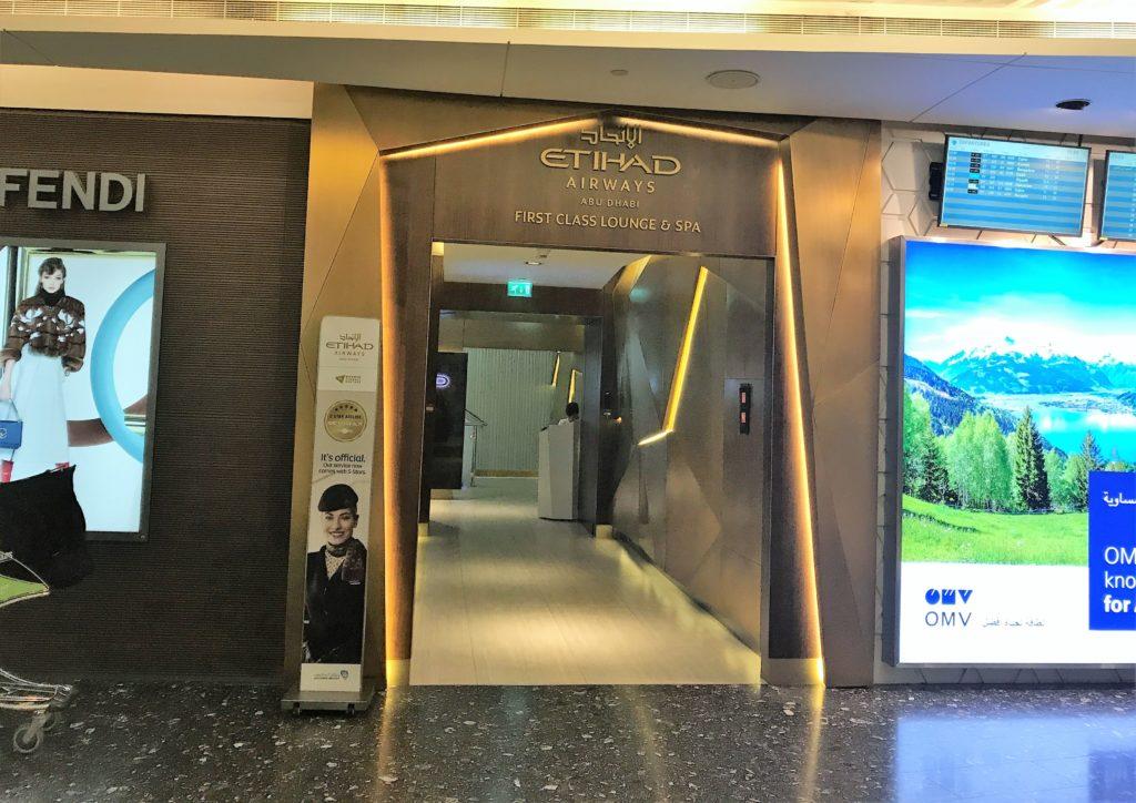 Etihad lounge Abu Dhabi review