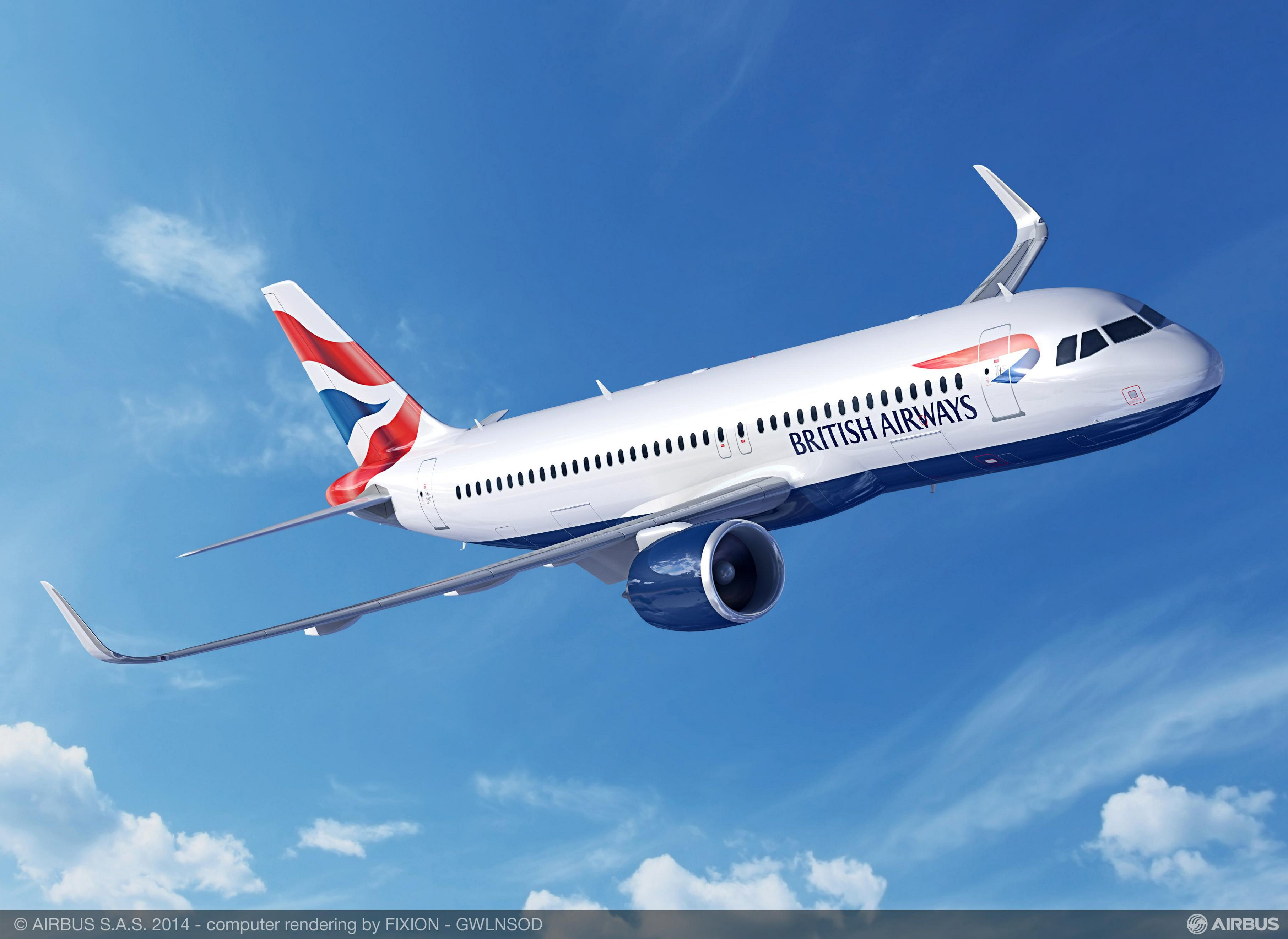 British Airways A320 delivery date