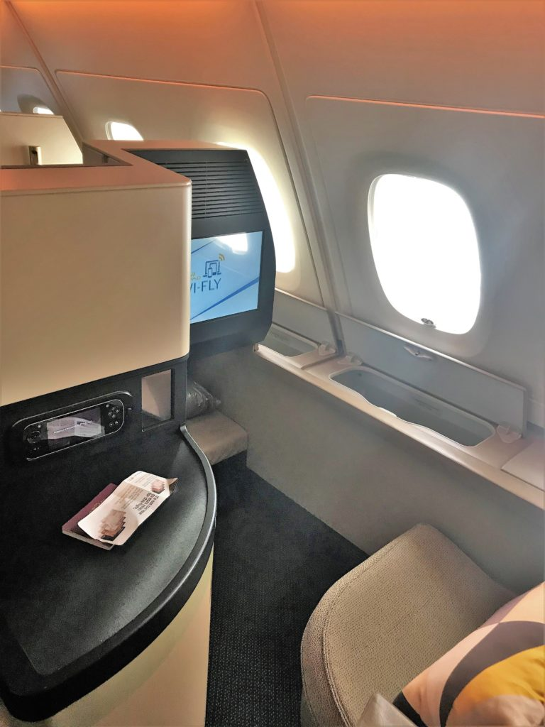 Etihad A380 Business class studio review Heathrow to Abu Dhabi