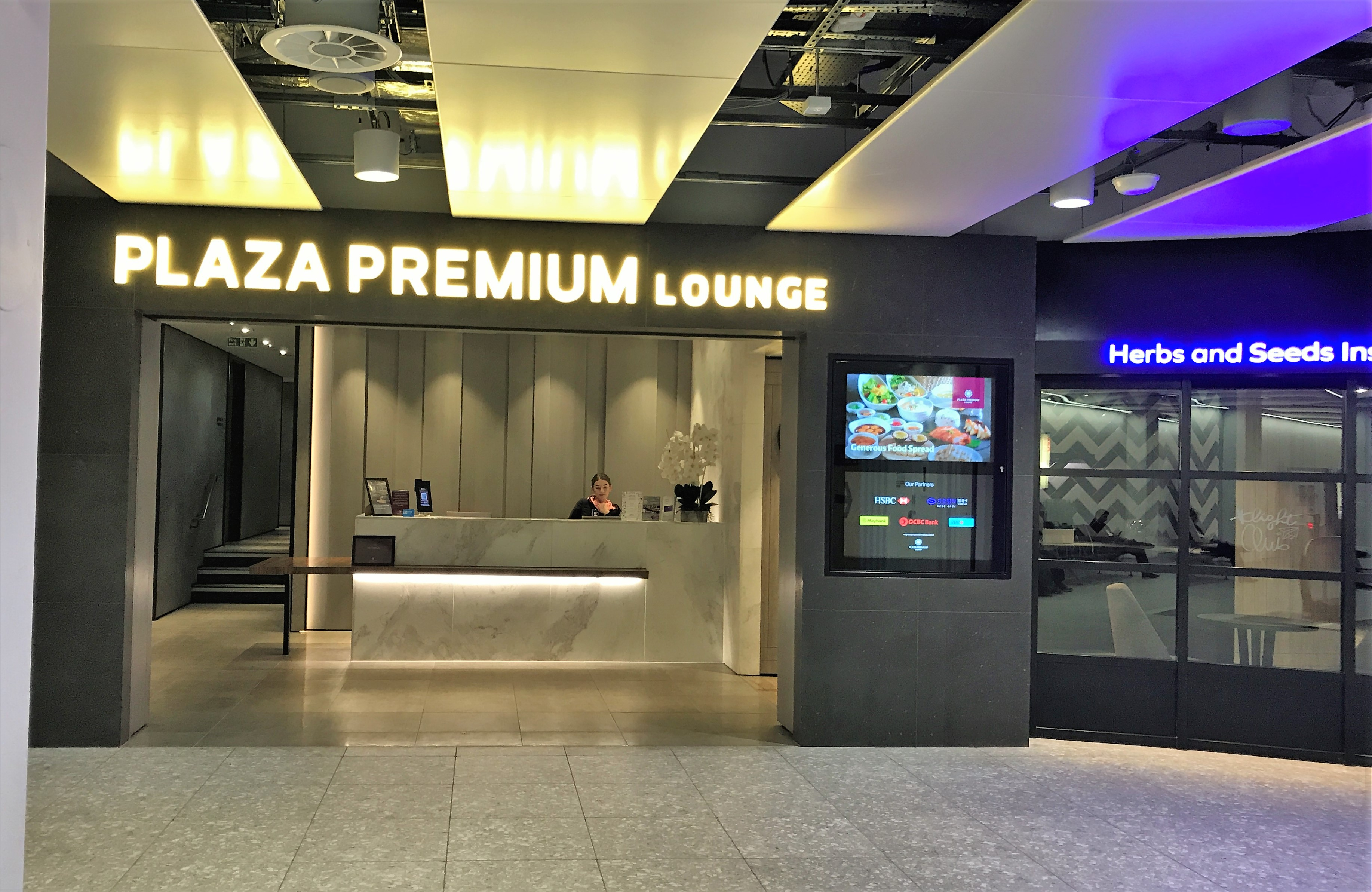 Plaza Premium arrivals lounge Heathrow Terminal 4 review