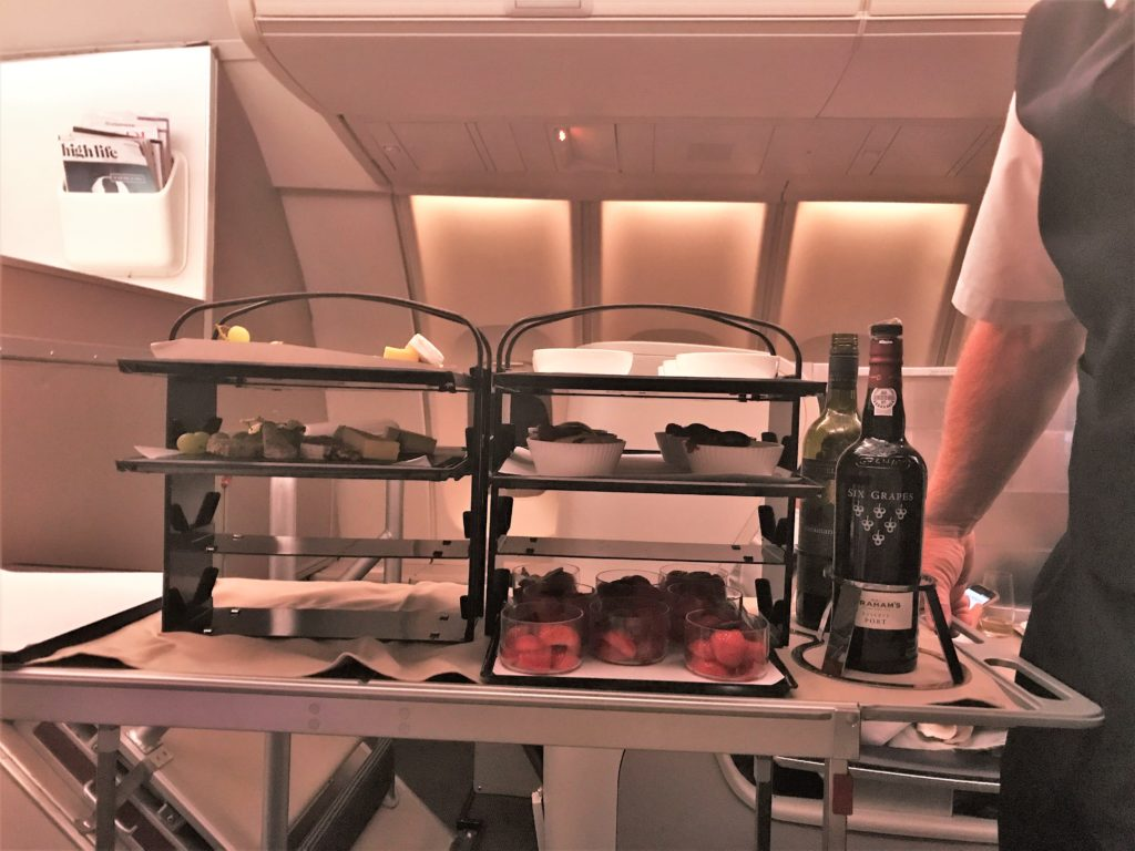 British Airways new Club World service food and bedding review