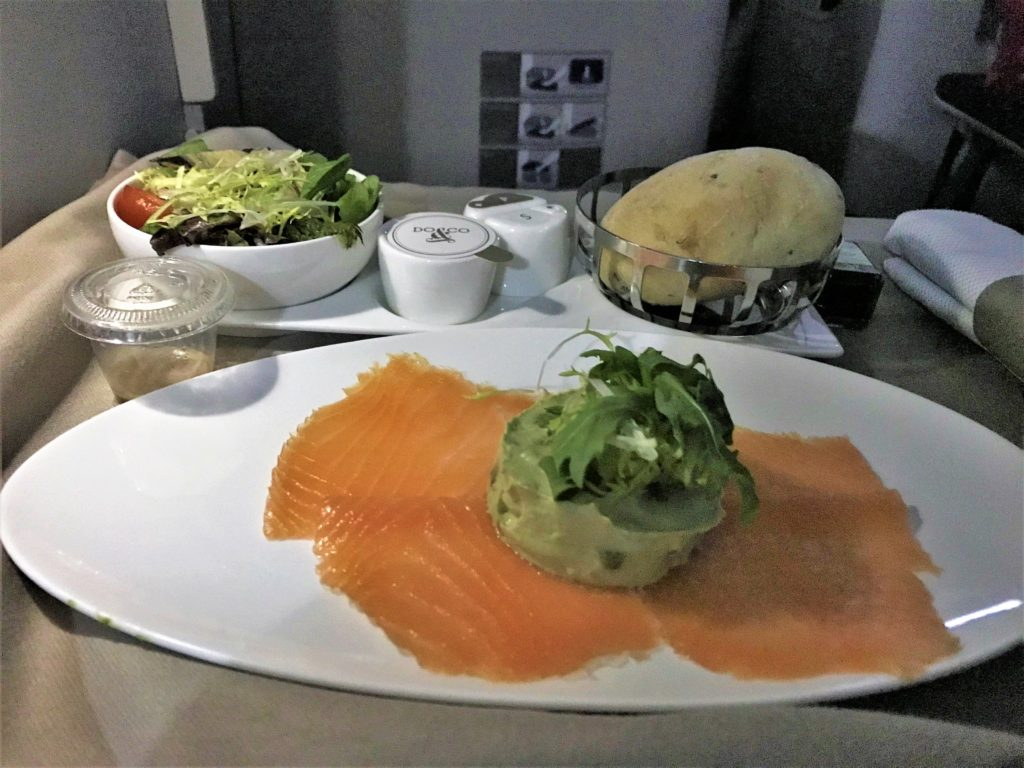 BA new club world night flight food review