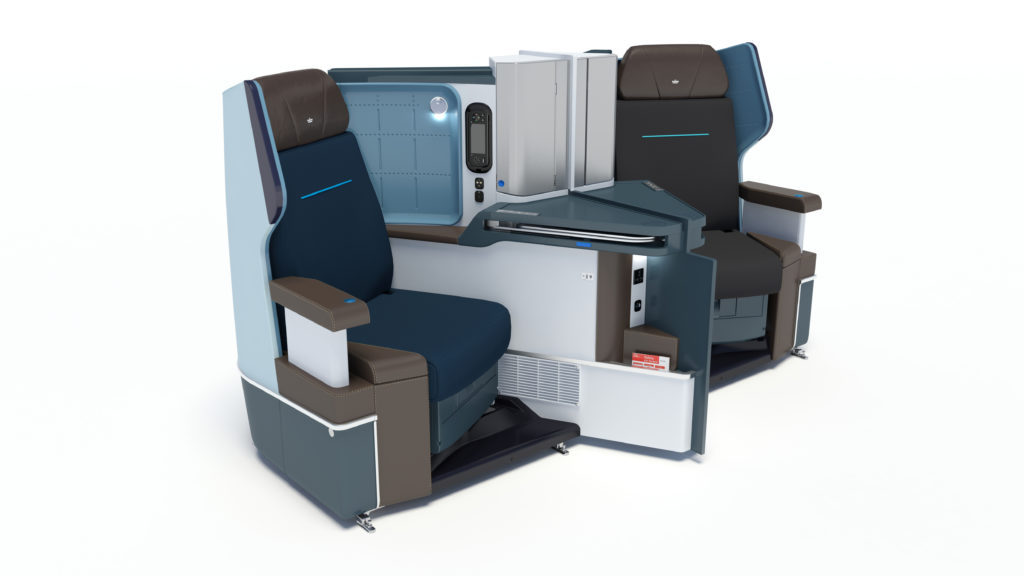 KLM B787 business class seats