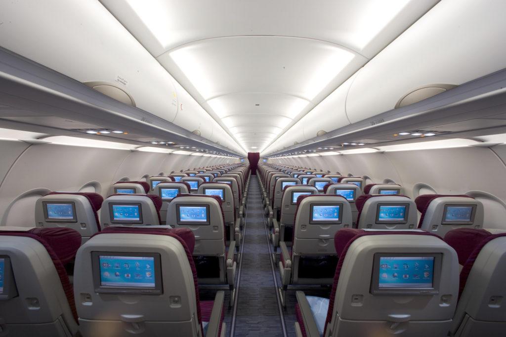 Qatar A320 economy