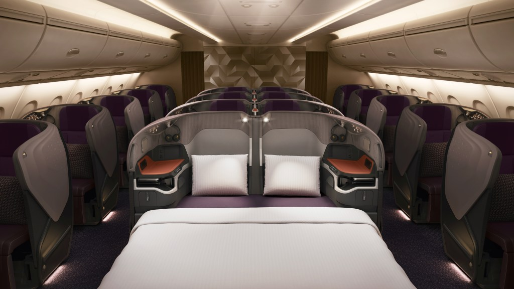 Singapore business class new seat A380