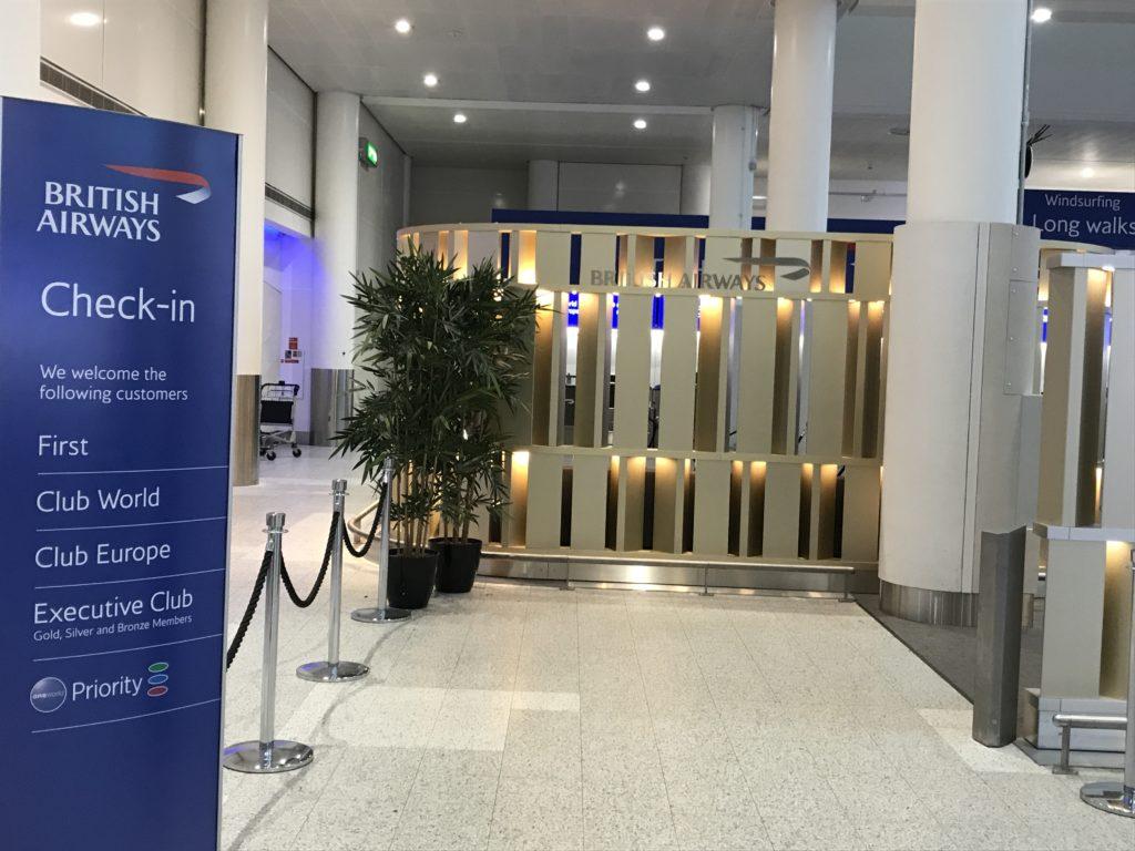 Gatwick BA Premium check-in