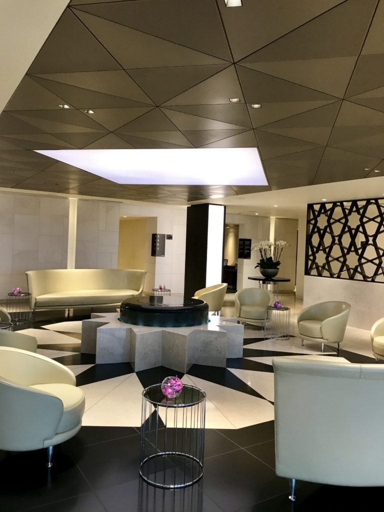 Qatar London Heathrow T4 Premium lounge business first class review