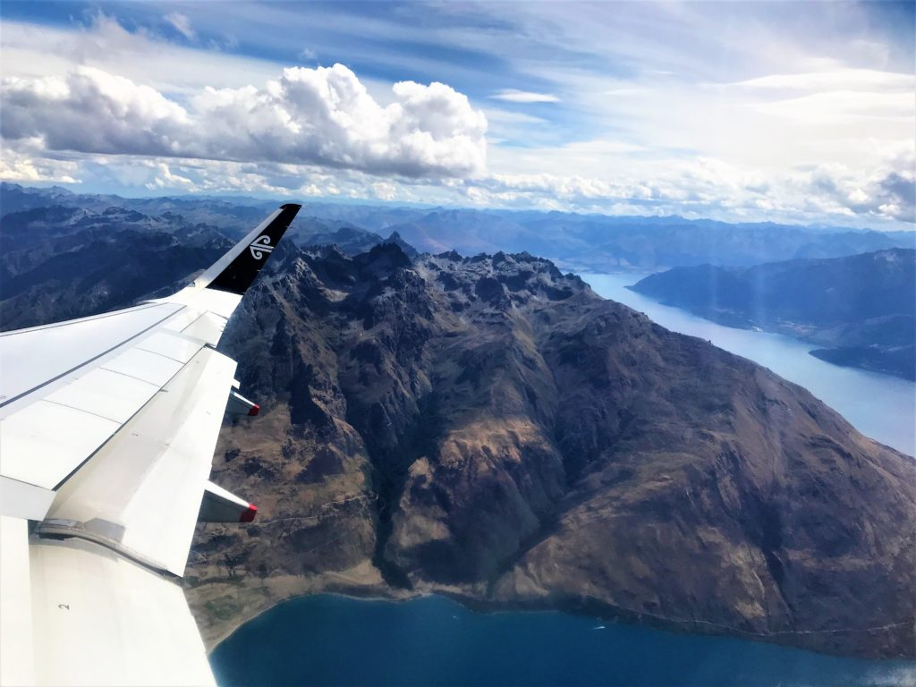 Air New Zealand taking off from Queenstown