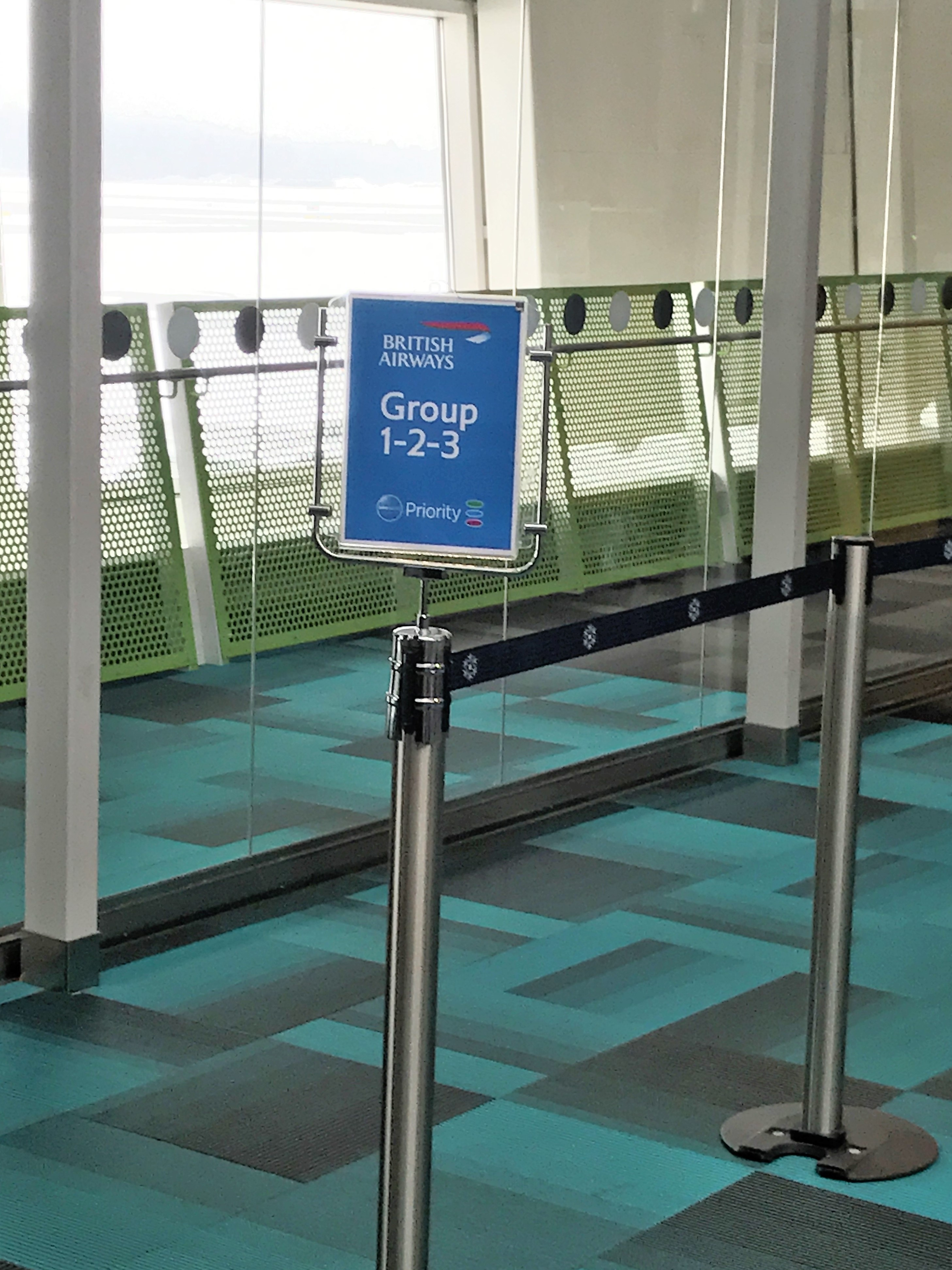 BA Group boarding sign at Stockholm
