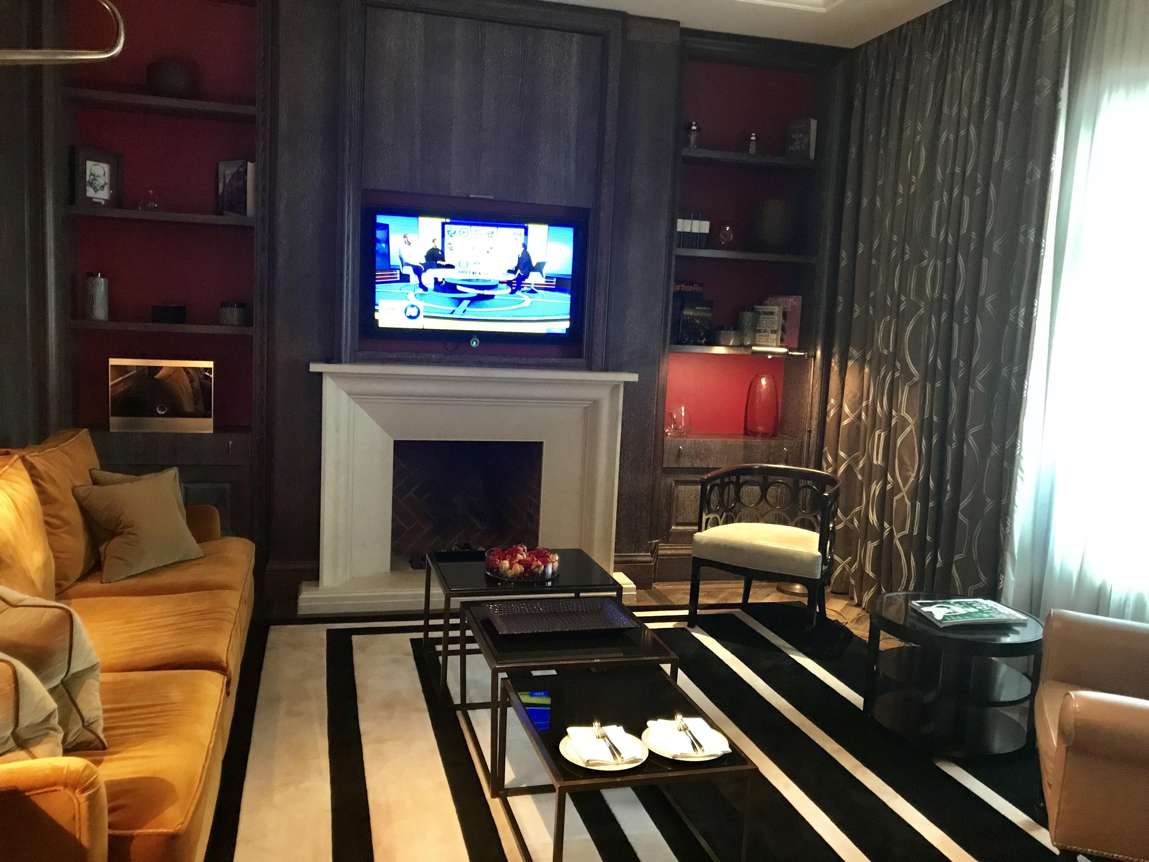 Corinthia Hotel London review suite living room