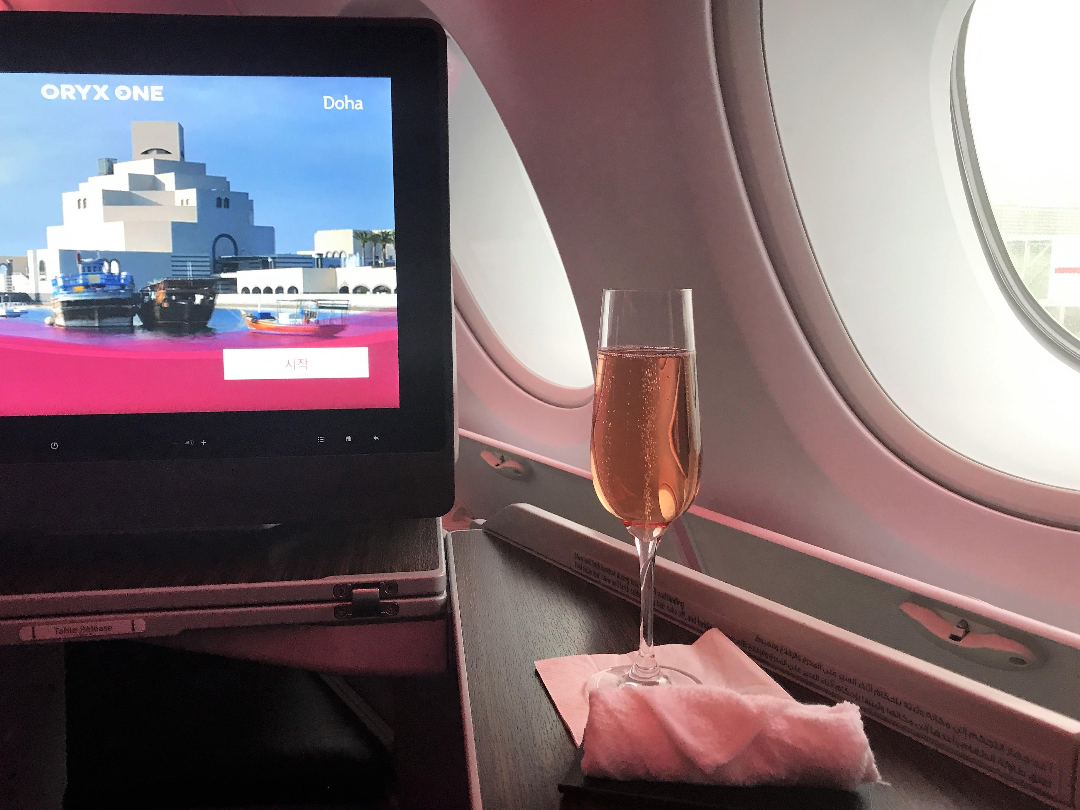 Qatar A380 business class review London