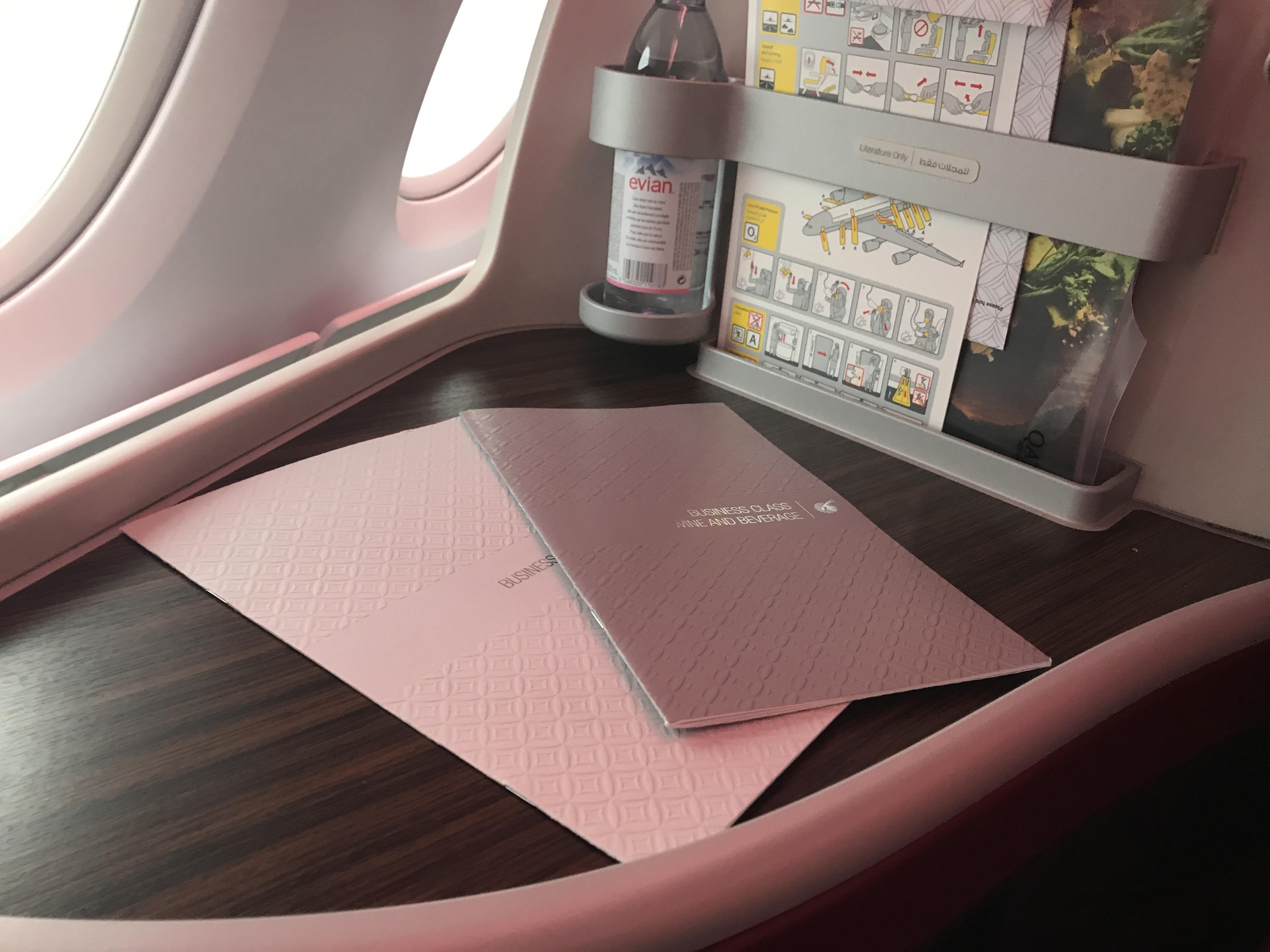 Qatar Airways A380 business class review