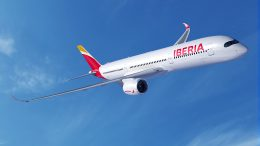 Iberia a350-900 London to Madrid and new york 18